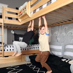lits superposes. Lits mezzanine. Maxtrix. Bunk beds. Loft beds. Kid's room. Chambre d'enfants