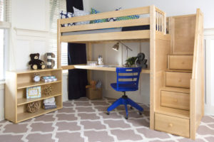 design kid's room bunk bed maxtrix